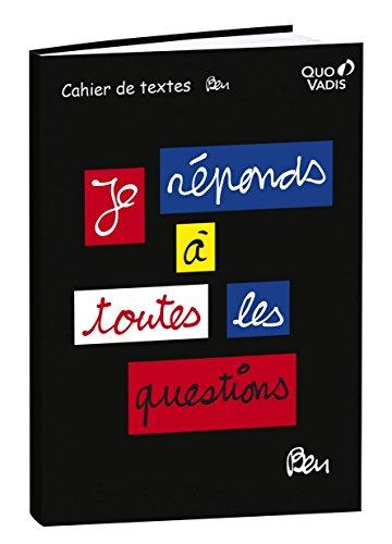 Quo Vadis Ben Cahier de Textes 15 x 21 cm Noir