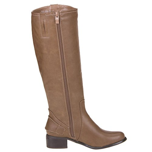 Damen Schuhe, 3VG-1128-DM, STIEFEL Khaki
