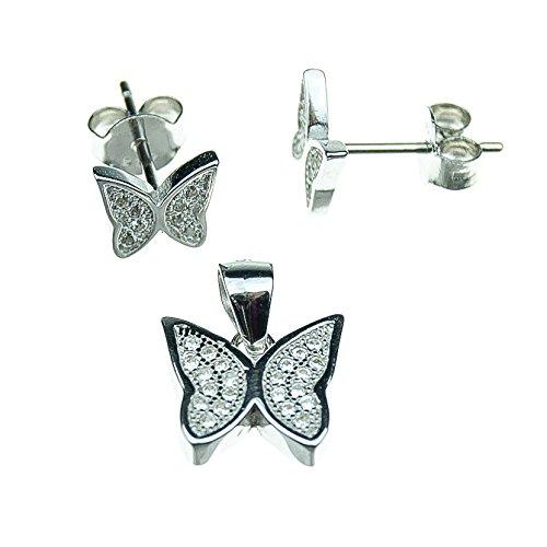 Bettwäsche Schmetterling Silber 925/1000Zirkonia (Bettwäsche Bereich)