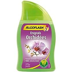 ALGOFLASH Engrais Orchidées, Jusqu'à 50 L, Bouchon doseur inclus, 375 ml, ALIORC375