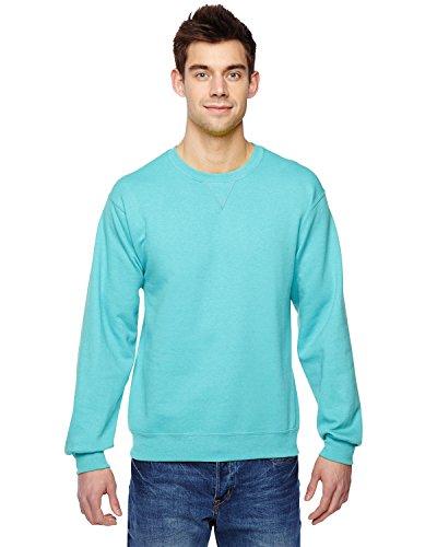 Fruit of the Loom Mens SofspunTM Crewneck Sweatshirt (SF72R) -Scuba Blue -L -