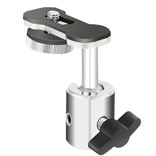 Neewer Videokamera Digital Recorder Adapter mit Mini Kugelkopf 360 Grad Pan und 180 Grad Tilt Bewegung für den Anschluss an Kamera mit 1/4
