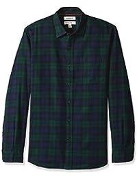 2f96421e8cba Goodthreads Herren Regular Fit Hemd aus gebürstetem Flanell mit langen  Ärmeln