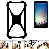 K-S-Trade Handyhülle für Medion Life X5520 Schutz Hülle Silikon Bumper Cover Case Silikoncase TPU Softcase Schutzhülle Smartphone Stoßschutz, schwarz (1x)