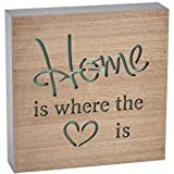 Wooden Block Sign - Home is Where the Heart is