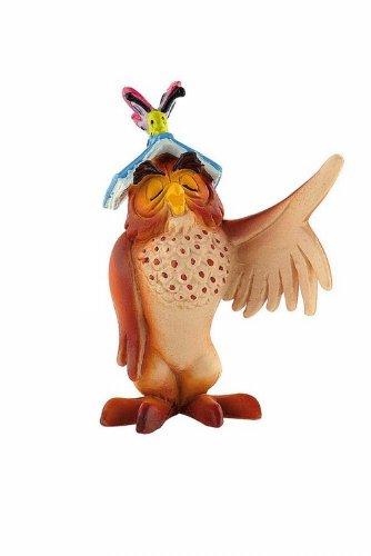Winnie l´ourson figurine Maître Hibou avec livre 7 cm - Bullyland - Disney