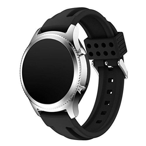251 Ersatz (Für Samsung Gear S3 Classic Transer® Ersatz Uhrenarmbänder Fashion Silikon Uhrenarmband Armband für Uhren Länge: 140- 251mm (schwarz))