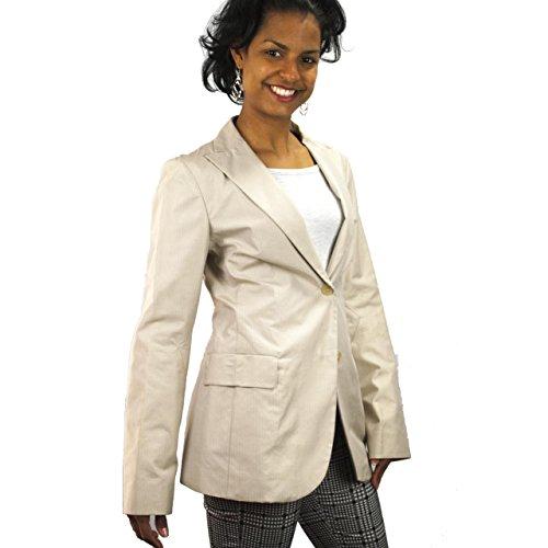 jil-sander-giacca-blazer-donna-taglia-42-beige-chiaro-righine-cotone