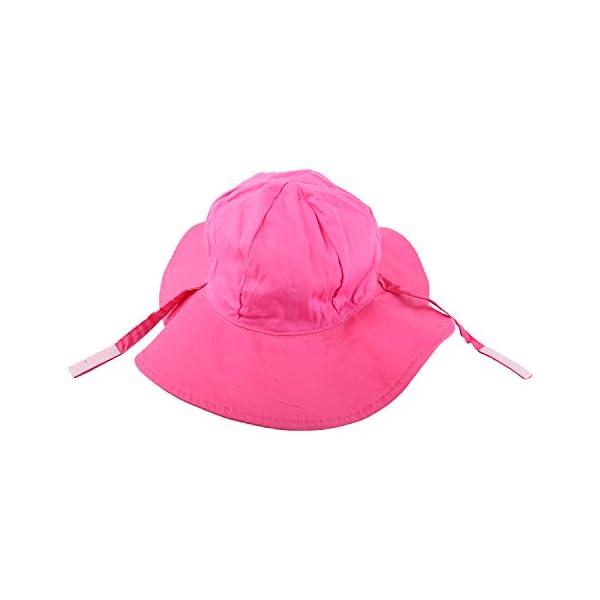 Snyemio Sombrero de Sol Niña Bebé Algodón Solar Gorro con Barbijo Verano Anti UV para Viaje Playa Piscina 5