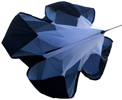 Preisvergleich Produktbild WINGONEER 56 Inch Running Chute Fallschirm Parachute Schwarz