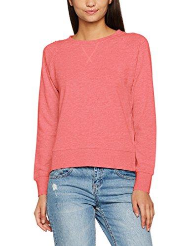 ONLY Damen Sweatshirt Onllotus LS O-Neck Noos, Rosa (Calypso Coral Detail:Melange), 40 (Herstellergröße: L)