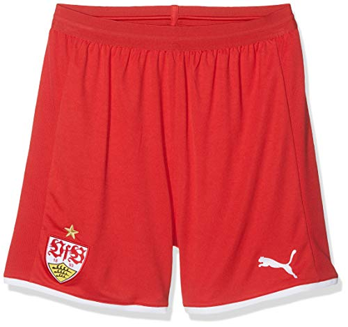 PUMA Kinder VfB Stuttgart Replica with innerslip Shorts, Ribbon Red White, 176 Red Ribbon Shorts