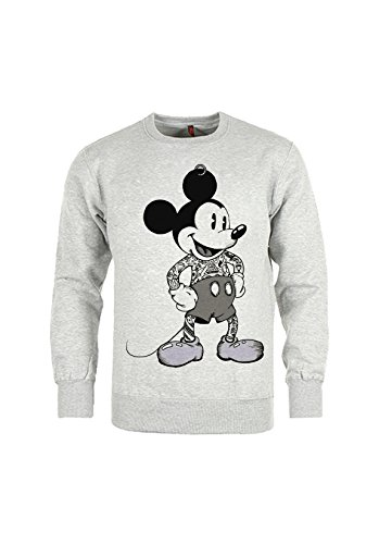 Mickey Swag - Sweat col rond mickey tattooed - Gris - M