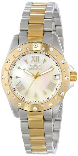 Invicta Women's 12855 Angel Analog Display Swiss Quartz Two Tone Watch