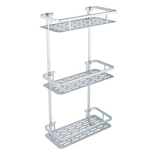 buy hapilife 3 tier bathroom shelf shower rack organizer. Black Bedroom Furniture Sets. Home Design Ideas