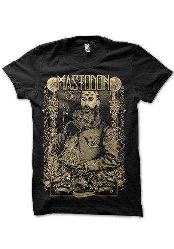 Testa in plastica Mastodon, barba maglietta da uomo nero X-Large