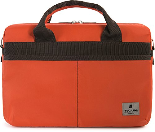Tucano Shine Slim Nylon Tasche für 33 cm (13 Zoll) Laptop orange