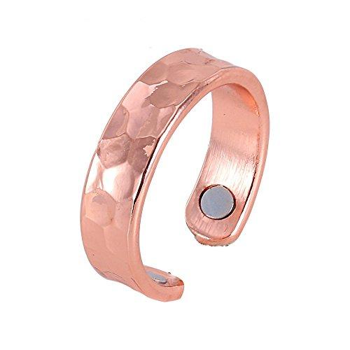 Exklusiver Magnet Kupferring im Hammerschlagdesign flexibel Größe 16-18 - Energetix 4you 9012 -