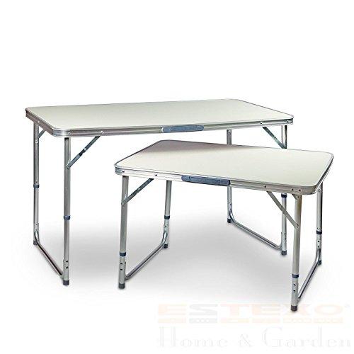 Aluminium Campingtisch Klapptisch Gartentisch Picknicktisch Koffertisch Tisch (60 x 80 cm)