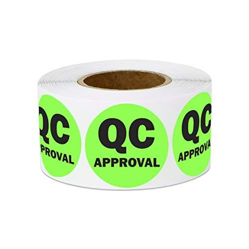 officesmartlabels QC Aufkleber Etiketten 2 Rolls 1 X 1 Aqua -