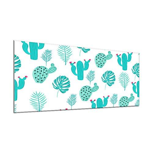 decorwelt | Housse de Protection en céramique pour Plaque de Cuisson Bleu Abstrait 90 x 52 cm