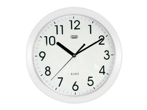 Trevi OM 3301 - Orologio da Parete - Quarzo silenzioso – 25cm – Bianco