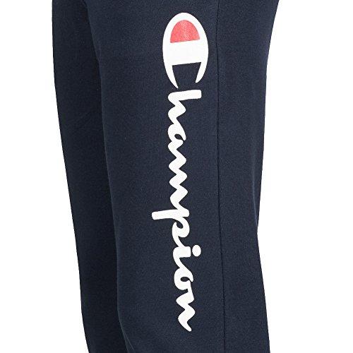 Champion Uomo Logo Sweat Pants Pantaloni Grigio 211198-4