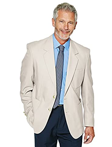 Mens Single Breasted Classic Oxford Blazer-Tailored/Full Fitting (Size: 56) (Colour: Beige)