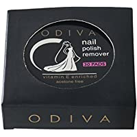 ODIVA Nail Polish Remover Wipes Round - Pack of 30 Pads