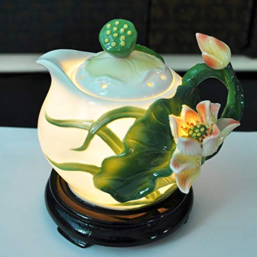 DaTun648 Keramik Kreative Ätherisches Öl Aromatherapie Lampe Plug-in Ätherisches Öl Lampe Wohnzimmer Schlafzimmer Aromatherapie Ofen Weihrauch Brenner Weihrauch Lampe - Öl-kessel-brenner