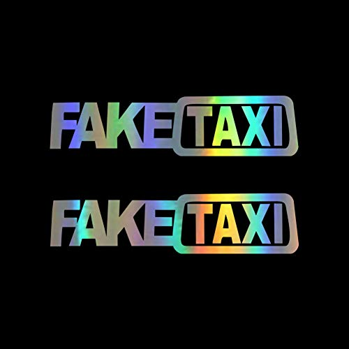 CTHK Autoaufkleber 2 stücke Gefälschte Taxi Auto Aufkleber Motorrad Aufkleber Karosserie Fenster Aufkleber Auto Styling Körper Lustige Auto Aufkleber für Auto Productss -