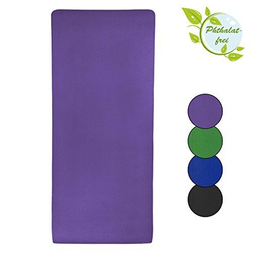 Esterilla colchoneta –de yoga –JOY 200 cm x 80 cm x 1.5 cm para fitness deportiva pilates gimnasia ejercicio, Color:Vivid Violet