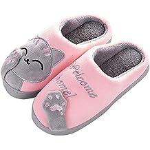 Rcool Inverno Pantofole Donna Home Morbido Antiscivolo Cotone Scarpe Caldo  Peluche Casa Pattini Gatto dei Cartoni 274c2238e74