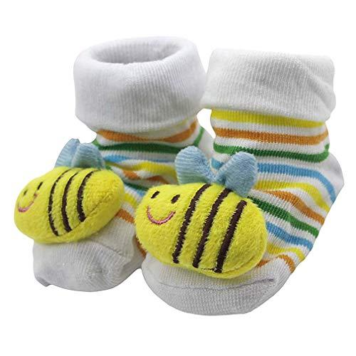 en-Baby-Socken-Karikatur-Tiersäuglings Anti-Rutsch-Socken Bequeme bunte Baumwolle Socken ()