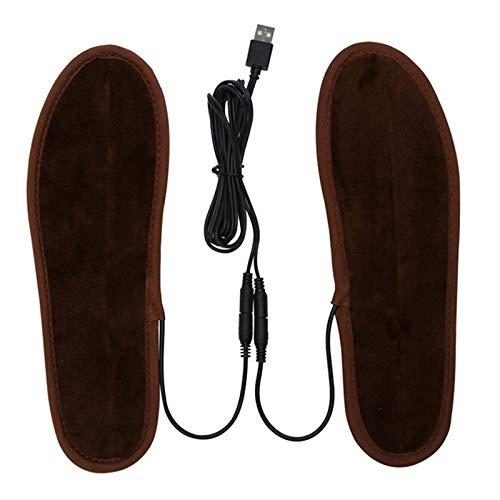 HATCHMATIC New 2019 USB elektrisch betriebene Plüsch Heizung Einlegesohlen Winter-Warmhalte Fuß Schuhe Einlegesohlen 36-44 Größe: 36