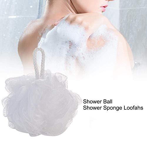 Eulan Bath Shower Sponge loofahs mesh Brush Ball Balls Rich Bubbles Body wash loofah extra-Dense Large Plain Soft (Bath Body Brush)