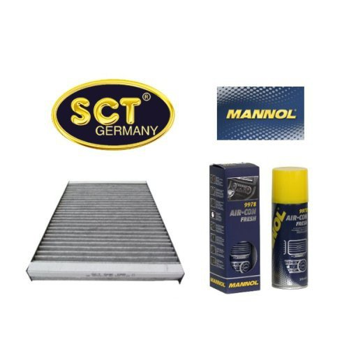 Preisvergleich Produktbild SCT Innenraumfilter Aktivkohlefilter Pollenfilter Microfilter Partikelfilter Kabinenfilter (Hyundai) i30 FD (Kia) CEE'D ED + 200 ml Mannol Air Con Fresh Klimaanlagen Desinfektion