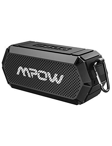 Mpow Bluetooth Lautsprecher, V4.2 Bluetooth&Aux-Kabel, HD-Stereo, IPX6 Wasserdicht, 15 Stunden mit Dual 5W Treiber, Freisprecheinrichtung mit eingebautem Mikrofon für Echo,iPhone,Huawei,Laptop usw.