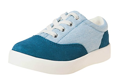 Little Blue Lamb Schuhe Halbschuhe Sneaker 7121 Wildleder & Canvas blau Blau