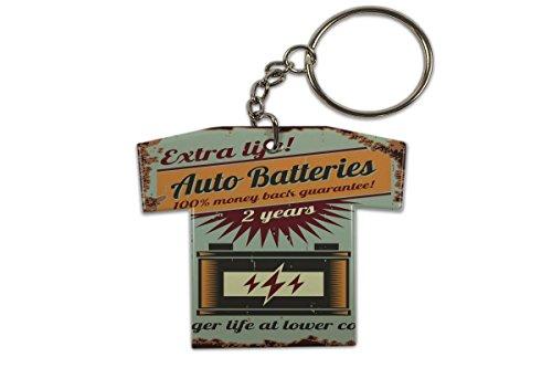 Schlüsselanhänger Oldtimer Auto Auto Batterien Trikot Bedruckt