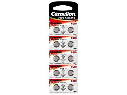 Camelion button cell LR1130 10 pack, 1,5V, Alkaline