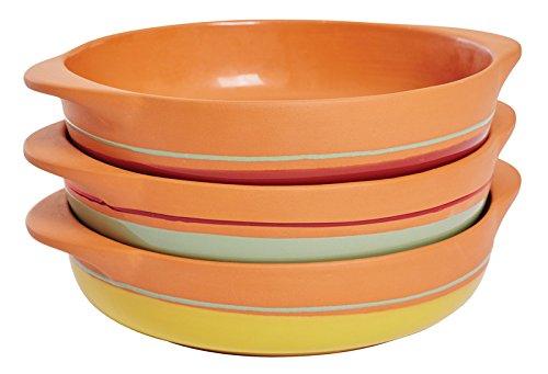 Jamie Oliver Assiette en terre cuite rouge/naturel, diamètre: 21,5cm, hauteur: 5cm, Back Harnais