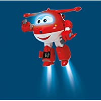 "Super Wings- Robot Ready Talking Jett| Interactive Figure | Phrases, Lights, Sounds | 9.5"" Tall preiswert"