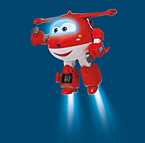 SUPER WINGS- Robot Ready Talking Jett| Figura interactiva | Frases, Luces, Sonidos | 9.5 Pulgadas de Alto