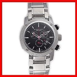 Venta. Auténtico Burberry Deporte Suizo Reloj Cronógrafo Unisex Hombres Negro de acero inoxidable FECHA Dial BU7702