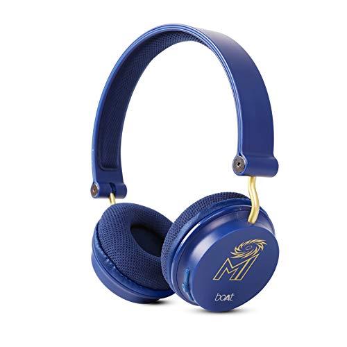boAtMumbai IndiansEdition Rockerz400Bluetooth Wireless Headphone (Blue)