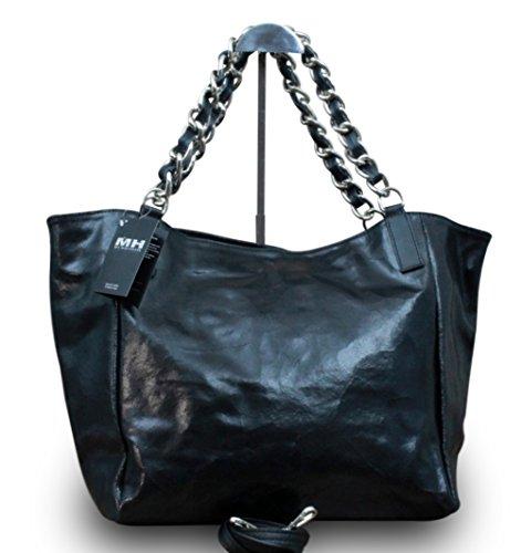 made-in-italy-luxus-damen-schultertasche-shopper-donna-bella-kette-leder-farbeschwarz