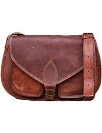 NK Vintage Leather Brown Sling Hand Bag