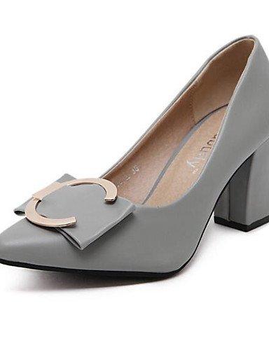 GS~LY Damen-High Heels-Outddor-Kunstleder-Niedriger Absatz-Absätze-Schwarz / Grün / Grau gray-us6 / eu36 / uk4 / cn36