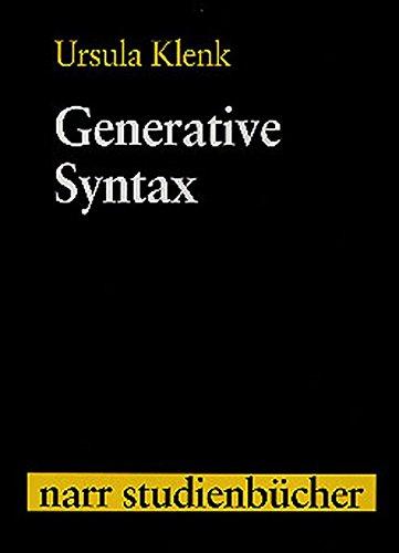 Generative Syntax (Narr Studienbücher)